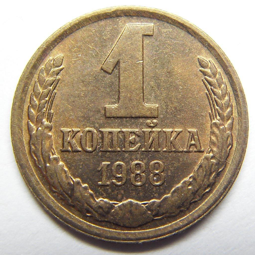 Стоимость монеты 1 копейка 1988 монеты ссср стоимость 1 рубль 1964